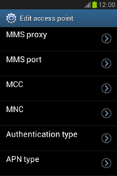 Samsung S6810P Galaxy Fame - MMS - Manual configuration - Step 12
