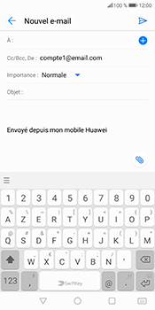 Huawei P Smart - E-mails - Envoyer un e-mail - Étape 5
