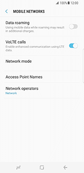 Samsung Galaxy S8 - Network - Usage across the border - Step 6