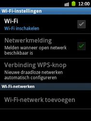 Samsung S5300 Galaxy Pocket - WiFi - Handmatig instellen - Stap 7