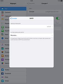 Apple iPad mini Retina iOS 10 - E-mail - Configuration manuelle - Étape 20
