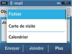Samsung C3500 Chat 350 - E-mail - Envoi d