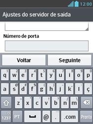 LG E430 Optimus L3 II - Email - Como configurar seu celular para receber e enviar e-mails - Etapa 16