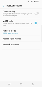Samsung Galaxy S8 - Network - Enable 4G/LTE - Step 6