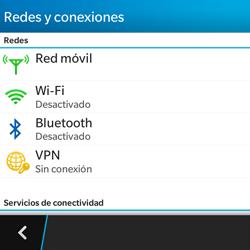 BlackBerry Q5 - Red - Seleccionar el tipo de red - Paso 5