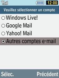 Samsung C3590 - E-mails - Ajouter ou modifier un compte e-mail - Étape 9