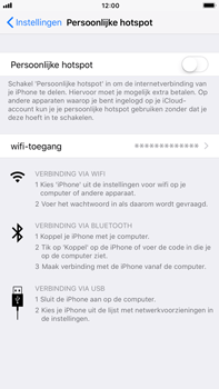 Apple iPhone 6 Plus iOS 11 - WiFi - WiFi hotspot instellen - Stap 4