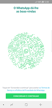 Samsung Galaxy S8 - Android Oreo - Aplicações - Como configurar o WhatsApp -  5