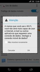 Sony Xperia E4G - Rede móvel - Como ativar e desativar uma rede de dados - Etapa 6