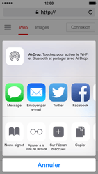 Apple iPhone 5c iOS 8 - Internet - Navigation sur internet - Étape 5