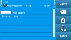 Nokia N97 - MMS - afbeeldingen verzenden - Stap 11
