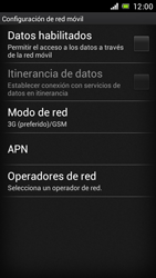 Sony Xperia J - Red - Seleccionar el tipo de red - Paso 6