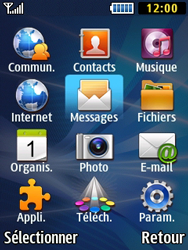 Samsung Solid 271 - Contact, Appels, SMS/MMS - Envoyer un SMS - Étape 3