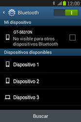 Samsung S6310 Galaxy Young - Bluetooth - Conectar dispositivos a través de Bluetooth - Paso 6