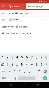 Nokia 8 Sirocco - E-mail - Bericht met attachment versturen - Stap 10