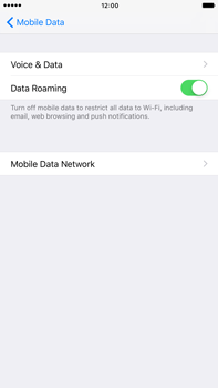 Apple Apple iPhone 6 Plus iOS 10 - Internet - Disable data roaming - Step 5