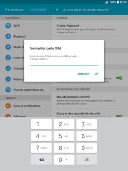 Samsung Galaxy Tab A - Sécuriser votre mobile - Personnaliser le code PIN de votre carte SIM - Étape 8