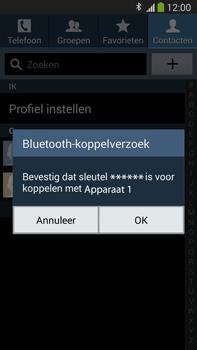Samsung N9005 Galaxy Note III LTE - Contacten en data - Contacten overzetten via Bluetooth - Stap 11