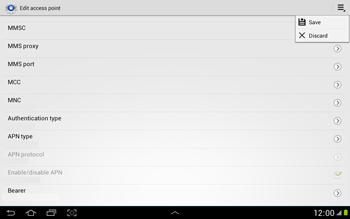 Samsung N8000 Galaxy Note 10-1 - Internet - Manual configuration - Step 14