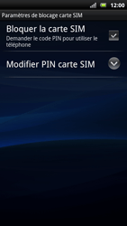 Sony Ericsson Xpéria Arc - Sécuriser votre mobile - Personnaliser le code PIN de votre carte SIM - Étape 6