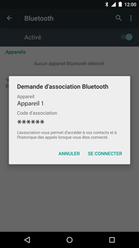 Motorola Nexus 6 - Bluetooth - connexion Bluetooth - Étape 9