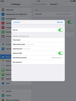 Apple iPad 4 iOS 9 - E-mail - Account instellen (IMAP zonder SMTP-verificatie) - Stap 19