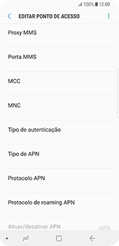 Samsung Galaxy S9 - MMS - Como configurar MMS -  12