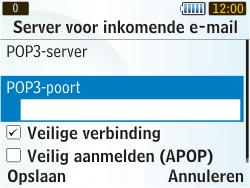 Samsung S3350 Chat 335 - E-mail - Handmatig instellen - Stap 16