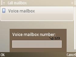 Nokia E72 - Voicemail - Manual configuration - Step 6