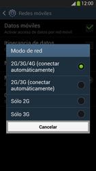 Samsung Galaxy S4 - Red - Seleccionar el tipo de red - Paso 7