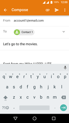 Wiko U-Feel Lite - E-mail - Sending emails - Step 8