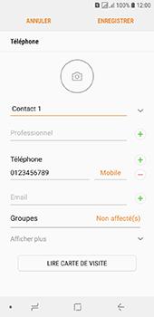 Samsung Galaxy J6 - Contact, Appels, SMS/MMS - Ajouter un contact - Étape 11