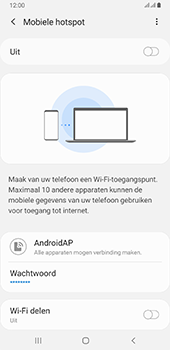 Samsung galaxy-a6-plus-sm-a605fn-ds-android-pie - WiFi - Mobiele hotspot instellen - Stap 7