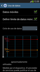 Samsung Galaxy S4 Mini - Internet - Ver uso de datos - Paso 10