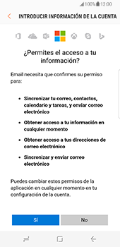 Samsung Galaxy S8 - E-mail - Configurar Outlook.com - Paso 9