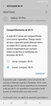 Samsung Galaxy S9 Plus - Wi-Fi - Como usar seu aparelho como um roteador de rede wi-fi - Etapa 7
