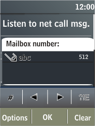 Nokia X3-02 - Voicemail - Manual configuration - Step 7