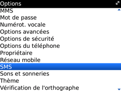 BlackBerry 9700 Bold - SMS - Configuration manuelle - Étape 4