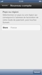 Apple iPhone 5 - Applications - Créer un compte - Étape 5