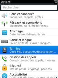 BlackBerry 9810 Torch - Paramètres - Reçus par SMS - Étape 4