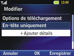 LG C320 InTouch Lady - E-mail - Configuration manuelle - Étape 17