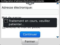BlackBerry 9320 - E-mails - Ajouter ou modifier un compte e-mail - Étape 9