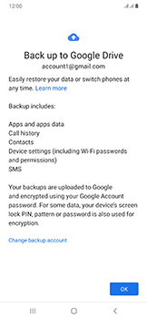 Samsung Galaxy A50 - Data - Create a backup with your account - Step 10