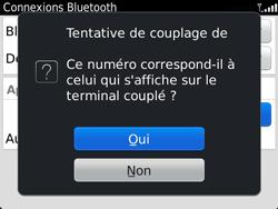 BlackBerry 9360 Curve - Bluetooth - Jumeler avec un appareil - Étape 10