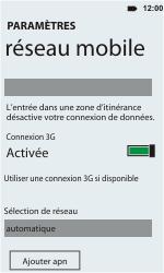 HTC C110e Radar - Réseau - utilisation à l'étranger - Étape 8