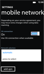 Nokia Lumia 710 - Network - Usage across the border - Step 6