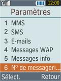 Samsung B2100 Xplorer - Messagerie vocale - Configuration manuelle - Étape 5