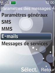 Nokia 7210 supernova - E-mail - Configuration manuelle - Étape 5