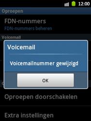 Samsung S5300 Galaxy Pocket - Voicemail - handmatig instellen - Stap 7