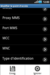 Samsung S5660 Galaxy Gio - Internet - configuration manuelle - Étape 12